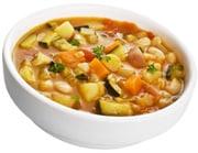Eine Schüssel Gemüsesuppe