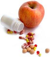 Apfel- und Diätpillen