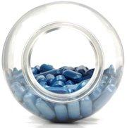 Flasche mit blauen Pillen