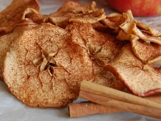 Zimt-Apfel-Chips
