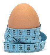 Ei und Maßband