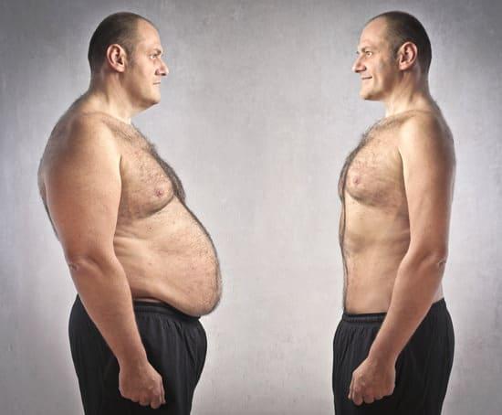 Fett gegen dünnen Mann
