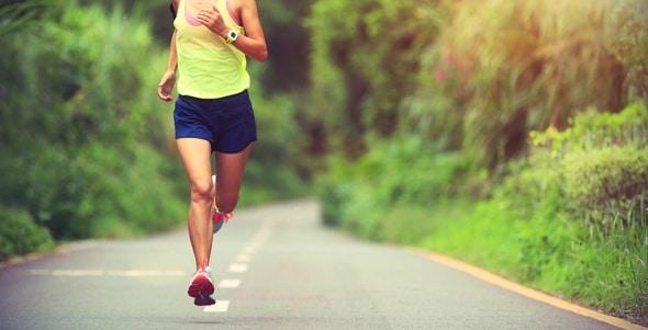 Sportlerin Langstreckenlauf