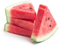 Vier Wassermelonenscheiben