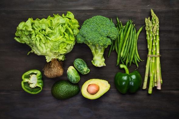 Faserreiches grünes Gemüse