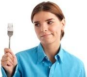 Hungrige Frau, kleiner