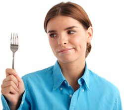 Hungrige Frau