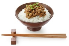 Japanisches Essen mit Natto