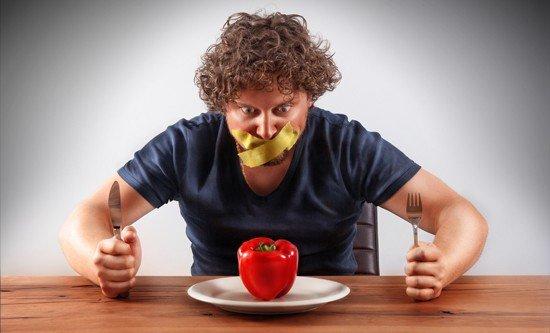 Mann darf keinen Paprika essen
