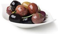 Oliven mit verschiedenen Farben