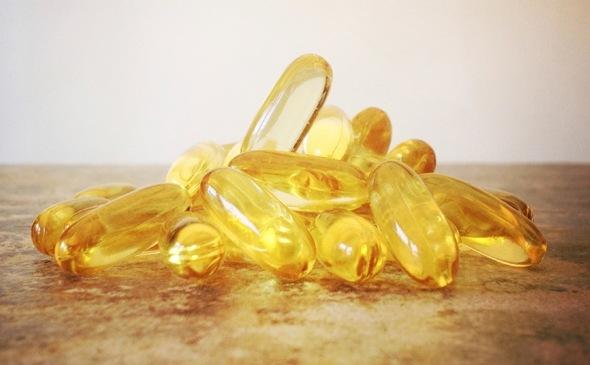 Omega-3-Kapseln Nahaufnahme