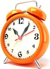 Orange Uhr