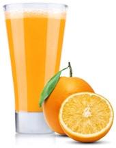 Orangen mit Orangensaft