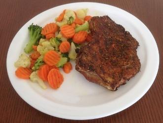 Schweinekoteletts mit Gemüse