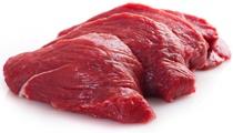 Rohe magere Rindfleischscheiben