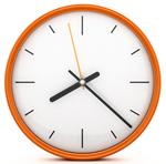 Runde orange Uhr