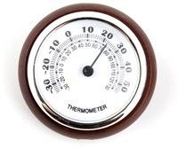 Rundes Thermometer mit Holzrahmen