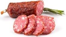In Scheiben geschnittene Salami