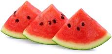 Drei Wassermelonenscheiben