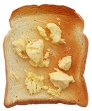 Geröstetes Brot mit Margarine