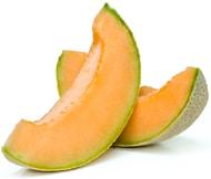 Zwei Scheiben Melone Melone