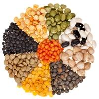 Variation von Hülsenfrüchten